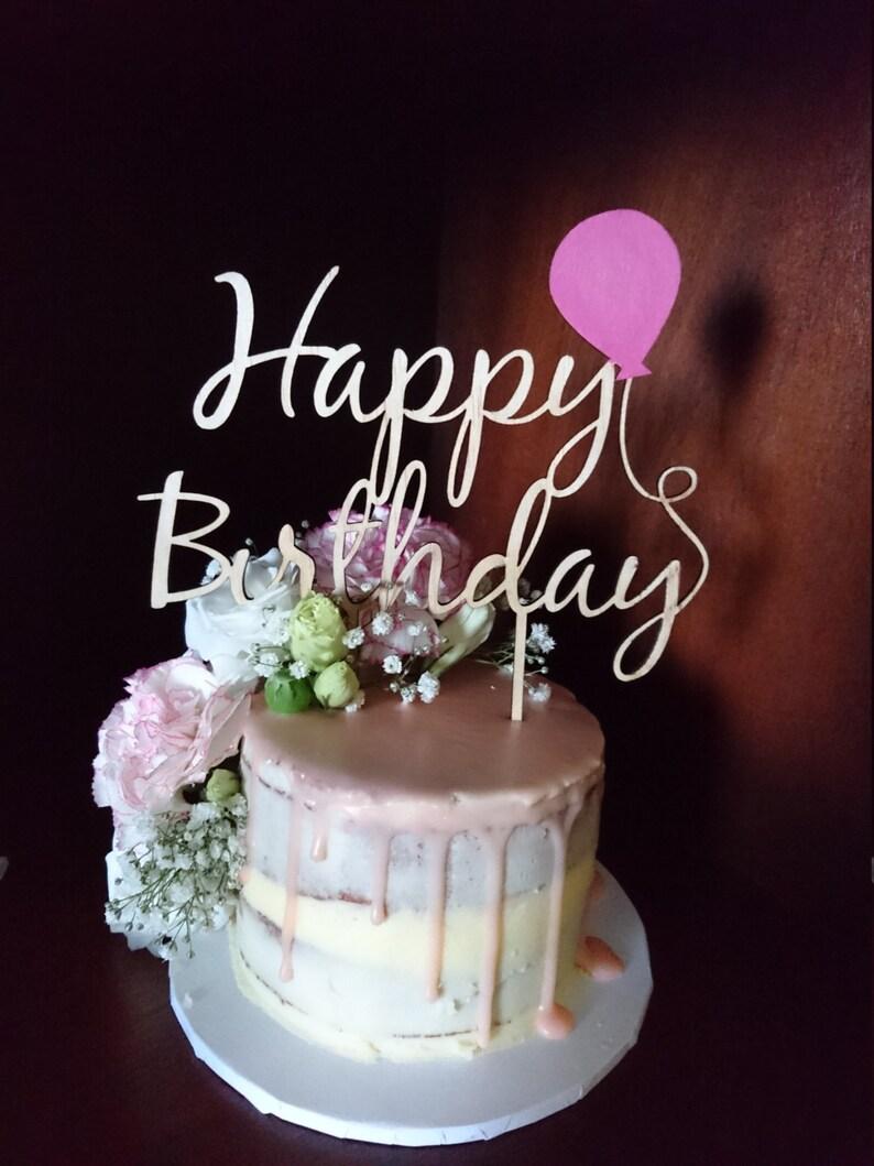 Happy Birthday Balloon Cake Topper Birthday cake topper | Etsy