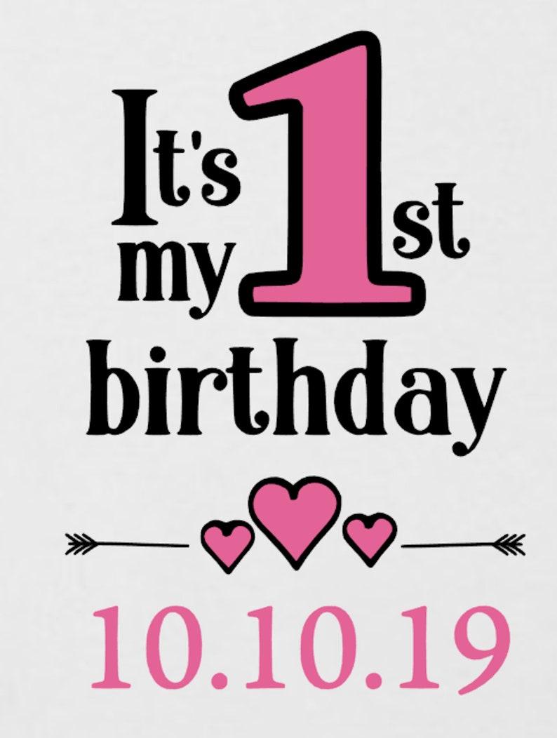 First Birthday GiftPresent Date Cake Smash 1 Today PERSONALISED 1ST BIRTHDAY New GirlsBoys Baby BodysuitBaby Grow RomperVest