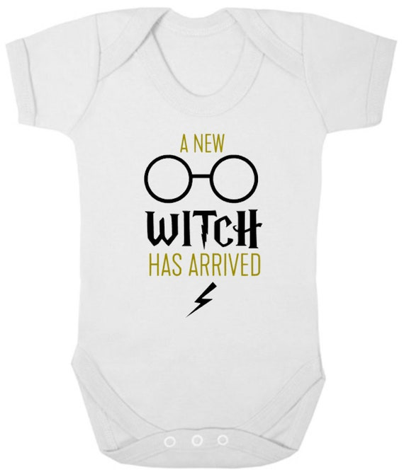 WIZARD New Bodysuit//Grow//Romper Witch Goblet Newborn Gift Potter Baby Shower