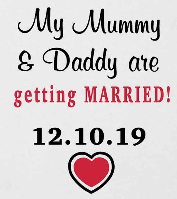 Wedding PERSONALISED MUMMY /& DADDY GOT MARRIED Baby Bodysuit//Grow//Vest//Romper