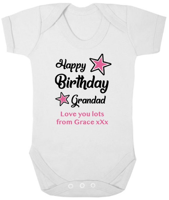 I LOVE MY GRANDAD Personalised Baby//Child T-Shirt