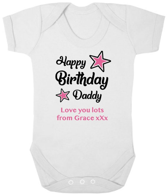 I Love My Daddy Baby Body Grow Vest Clothes Romper Fathers Day Birthday Gift