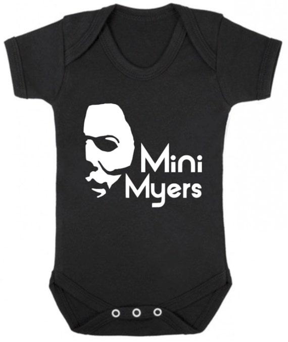 a87014221 MINI MYERS HALLOWEEN Michael Myers Baby Bodysuit/Baby   Etsy