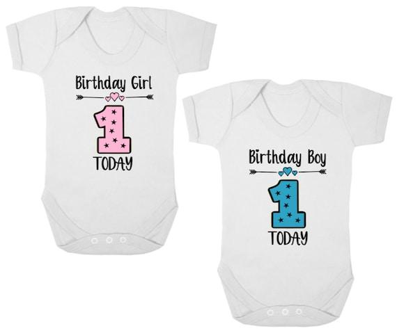 1ST BIRTHDAY New Baby Bodysuit//Grow//Vest//Romper Birthday Girl//Boy Present//Gift