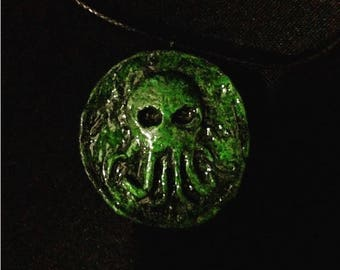 Cthulhu Necklace  //LoveCraft//HPlovecraft//Demon//Horror//Idol//Necronomicon//Sculpture//Magic//Spells