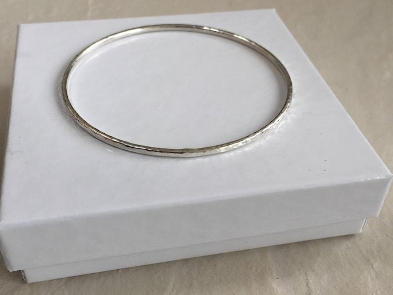 Handmade Additional sizes made. 2mm Sturdy Bracelet 925 Sterling Silver Bangle