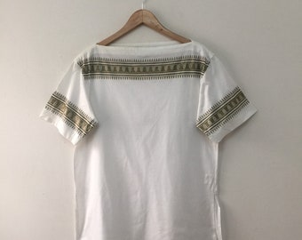 20715459091 Christian Dior Blouse Women Size M   Christian Dior Sports CD Glitter  Sparkles White Blouse Shirt   Christian Dior Shirt