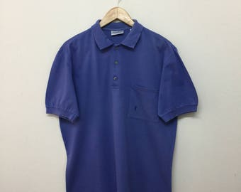 923f29809b6 Yves Saint Laurent Collared Polo Shirt / YSL Yves Saint Laurent Tricots  Pour Homme Polo ShirtMade In Italy / Royal Blue / Size 4