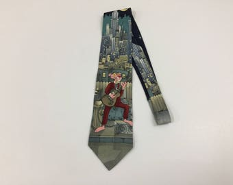 af791e27c8c Vintage Pink Panther Silk Necktie 1993 Pink Panther Tie Made in Italy