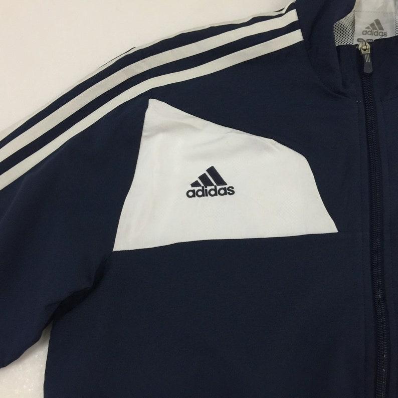 Adidas veste Adidas Climalite Full Zip Track Top formation veste bleu marine blanc taille M