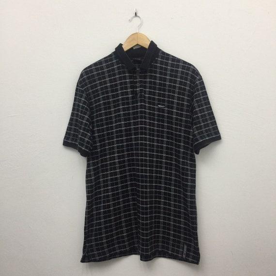 Mizuno T Zoid Checkered Collared Polo Shirt - Size