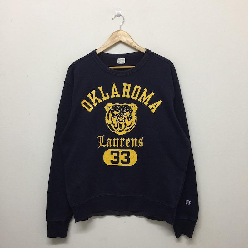 63e3e076 Vintage Champion Sweatshirt Mens Size L / 90s Oklahoma Laurens   Etsy