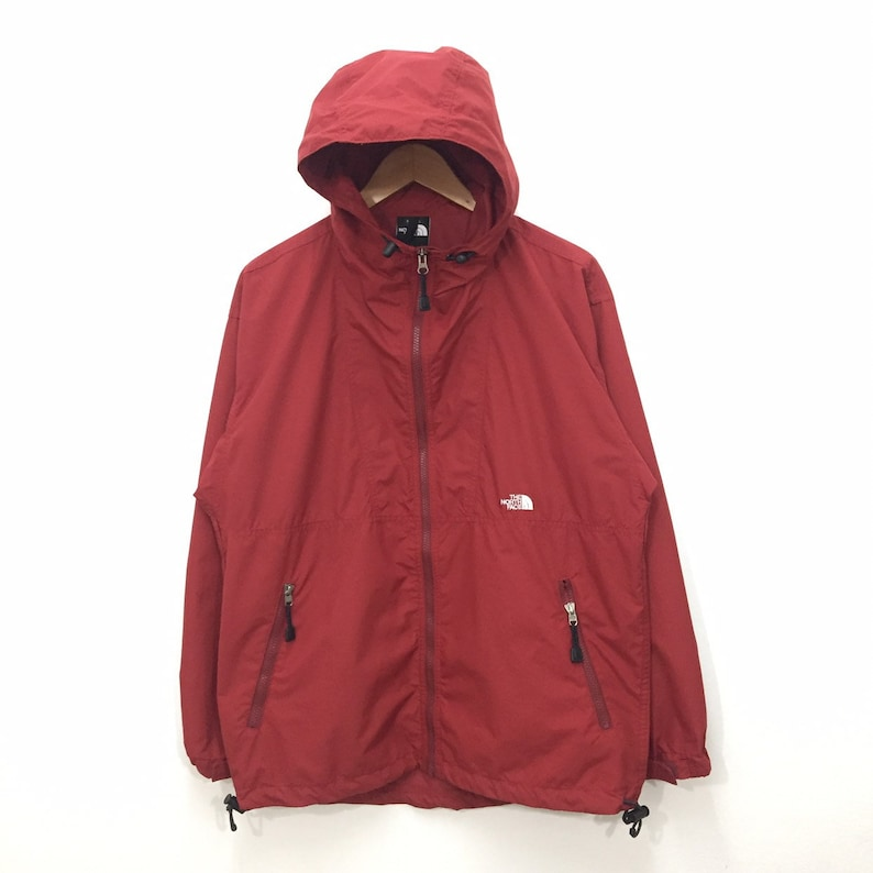 2aaf77c9e Vintage The North Face Jacket Mens Size L / 90s TNF The North Face Hooded  Nylon Windbreaker Jacket