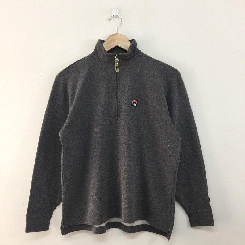 31bb414e925d Fila Vintage Sweater Mens Size S / 90s Fila Half Zip Pullover   Etsy