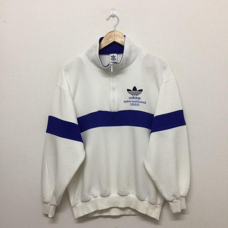 02f872c26b6 Vintage Adidas Sweatshirt Mens Size M   90s Adidas Trefoil
