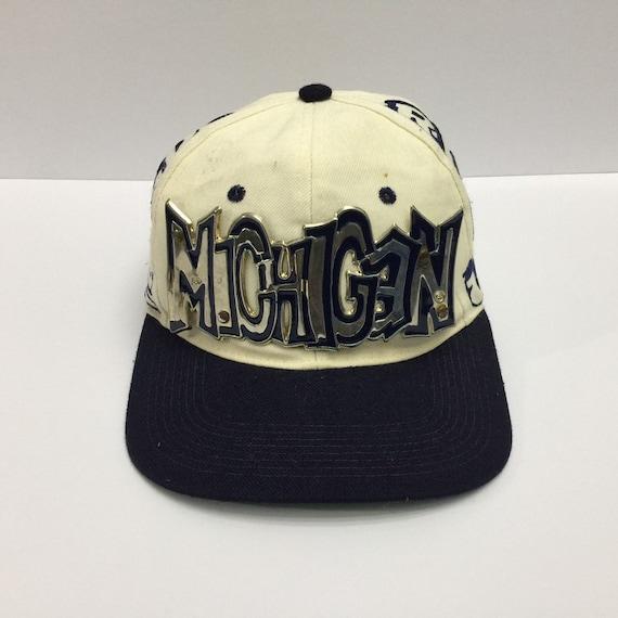 Vintage Michigan Wolverines Snapback Hat 90s Michi
