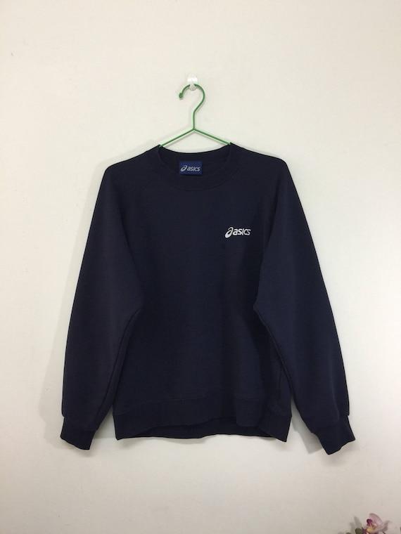 Vintage Asics Sweatshirt Mens Size M / 90s Asics Dark Blue | Etsy