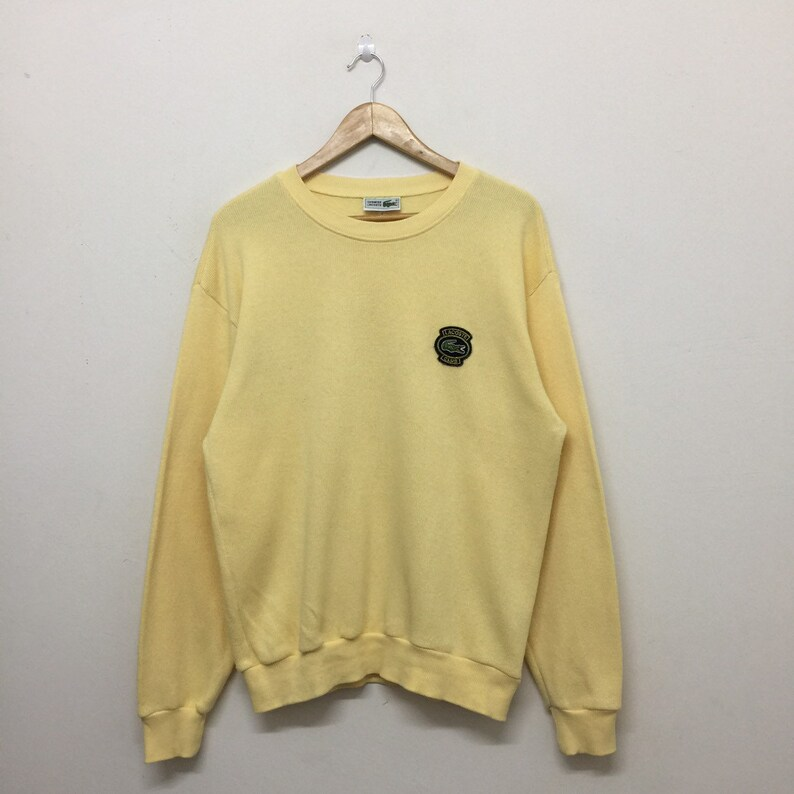 7ccda2176cc40 Vintage Lacoste Sweater Mens Size L   90s Chemise Lacoste Club