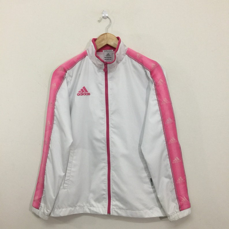 3d70a53e5659 Adidas Jacket   Adidas Climaproof Side Tape Big Logo Full Zip