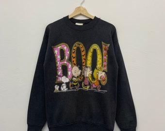 Vintage 90s Peanuts Halloween Faded Crewneck Sweatshirt Size Medium