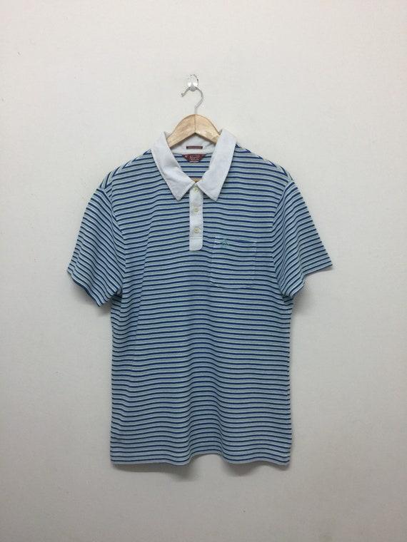 Munsingwear Vintage Polo Shirt Men Size L 90s Penguins by Munsingwear Single Pocket Stripes Collared Polo Shirt Vintage Munsingwear