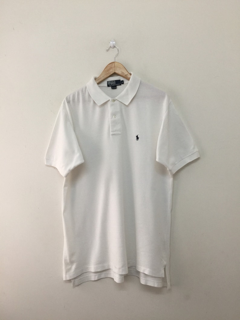 low priced c871b b9cf7 Polo Ralph Lauren Shirt/Vintage 90er Jahre Polo Ralph Lauren Smal Pony Polo  Shirt/weiß/Größe L