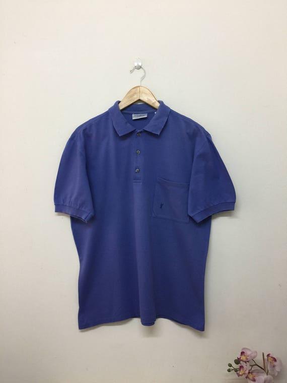 42881801449 Yves Saint Laurent Collared Polo Shirt / YSL Yves Saint | Etsy