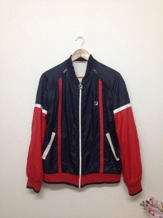 Vintage Größe Jacke 90er Fila Italy Weste Ärmel Herren Made In L Abnehmbare Jahre K1c3JTlF