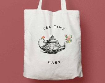 Tea Time baby tote bag