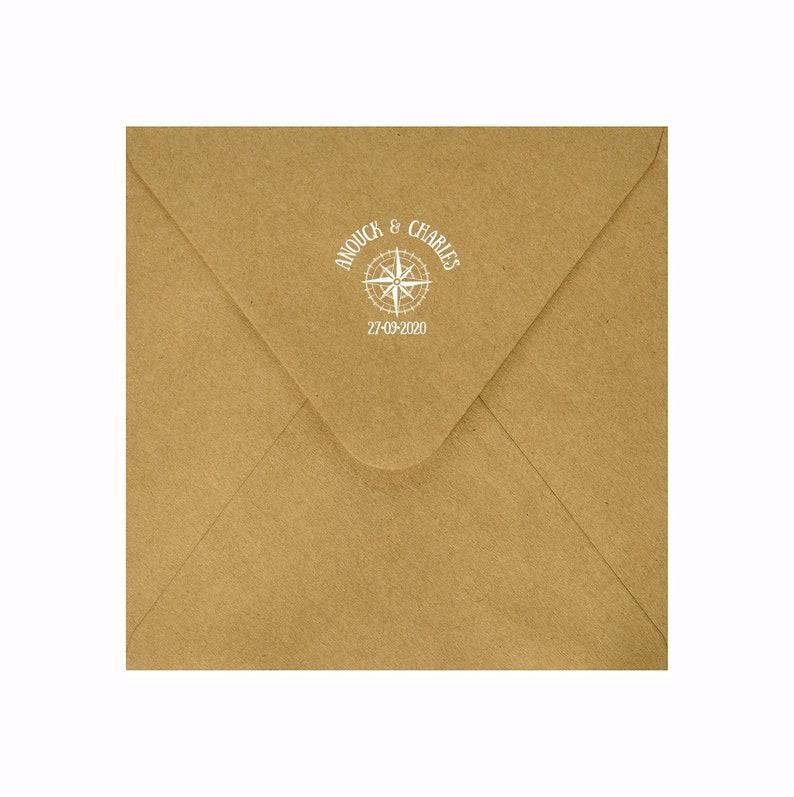 Wind rose wedding rubber stamp Custom wedding Rubber Stamp