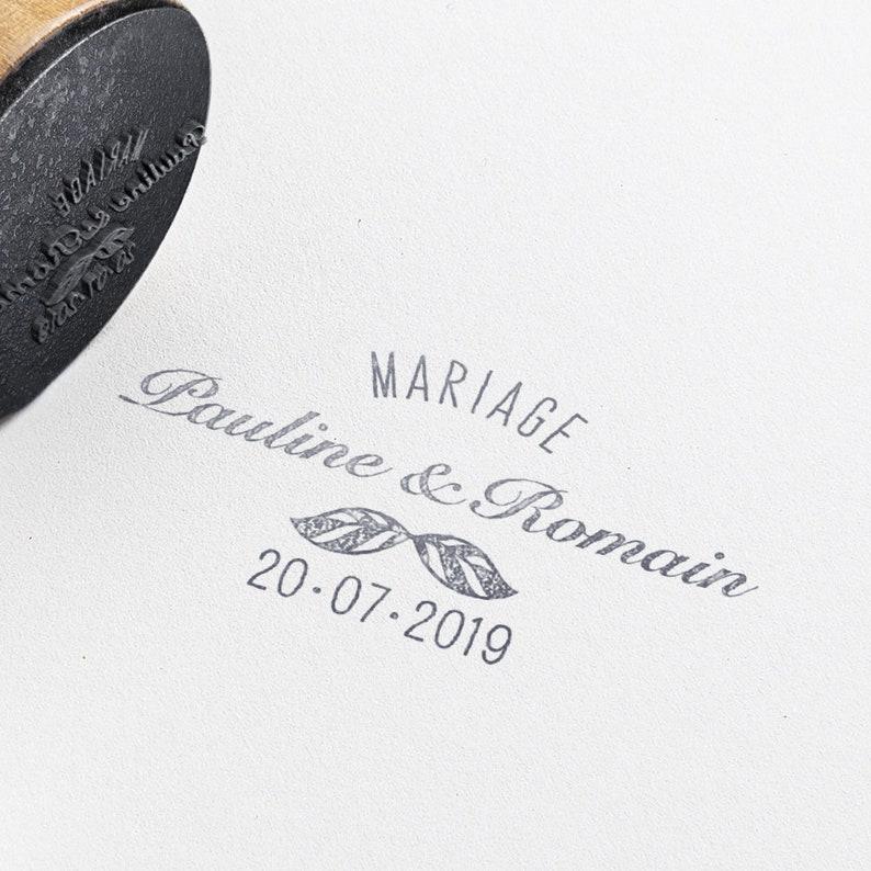 Custom Leaves Wedding Rubber Stamp Custom Wedding Invitations Etsy