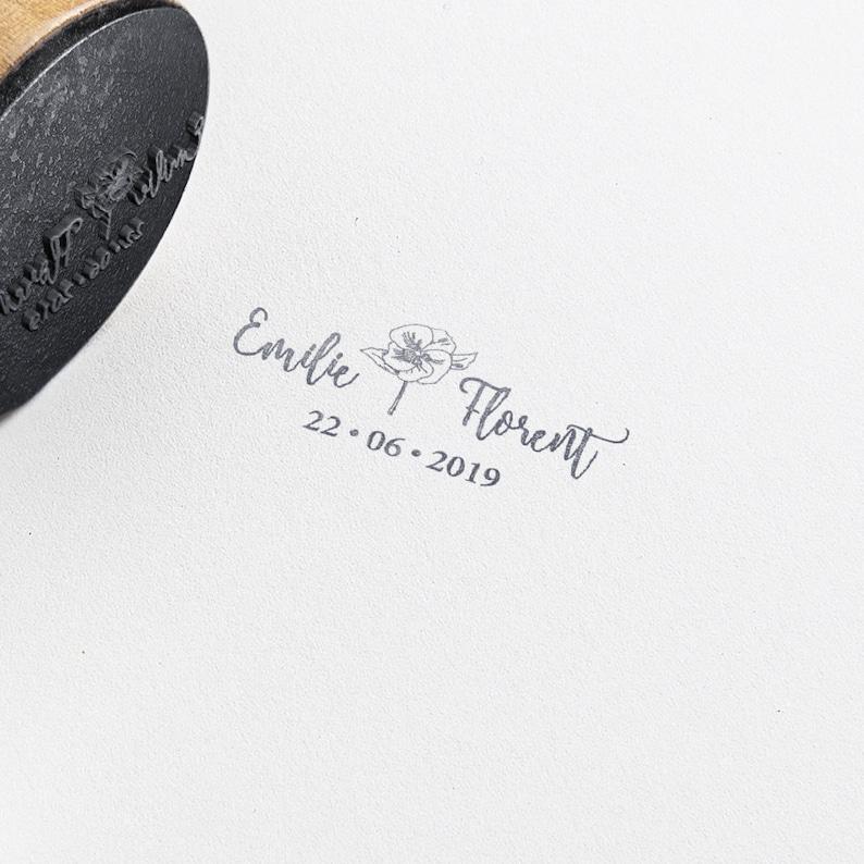 Poppy Wedding Rubber Stamp Custom Wedding Invitations Stamp Etsy