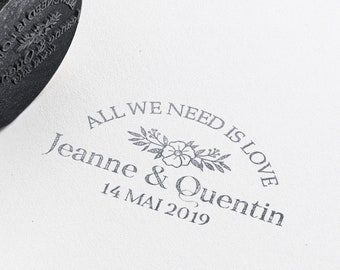 All We Need is Love Wedding rubber stamp, save the date rubber stamp, wedding stamp, Custom Wedding Invitations Stamp, crown wedding stamp