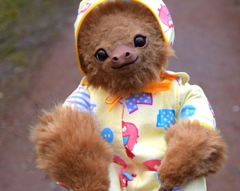 Baby Sloth In Pajamas Etsy