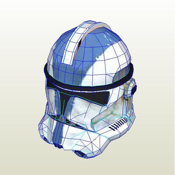 Clone Trooper Helmet Star Wars DIY Printable Paper Model