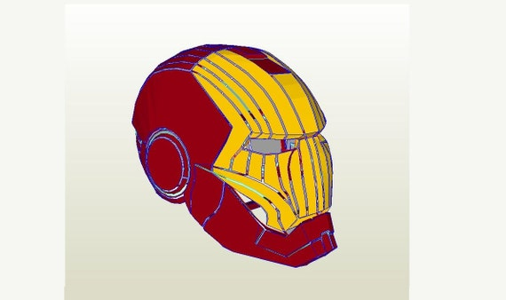 graphic relating to Iron Man Mask Printable titled Iron male helmet Do-it-yourself 1:1 Total scale Lifestyle-dimension printable paper style behavior. Cosplay. Paper celebration mask. Papercraft routine