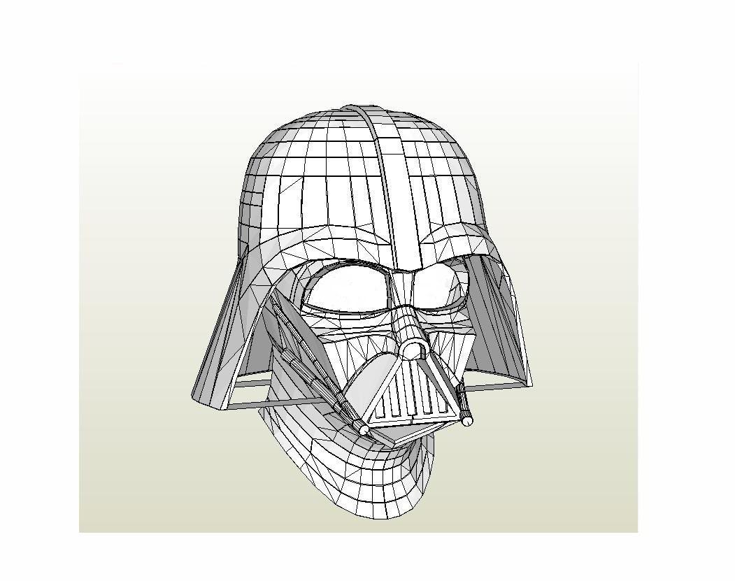 Darth Vader Helmet Star Wars 11 Full Scale Life Size Diy Etsy