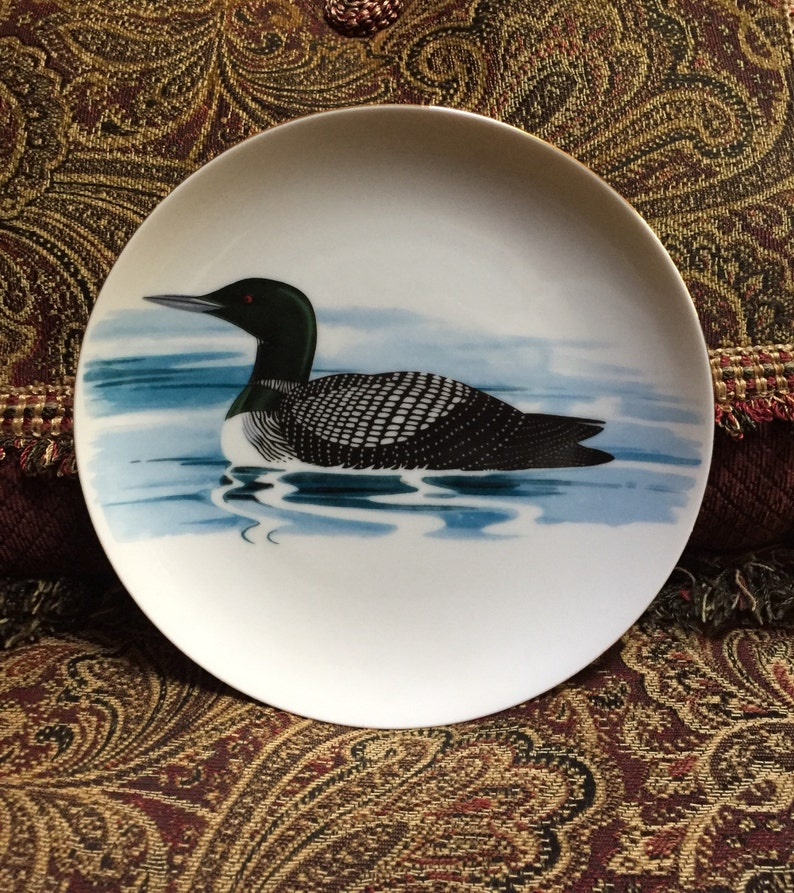 Down East Crafts Loon Plate Mallaird Plate