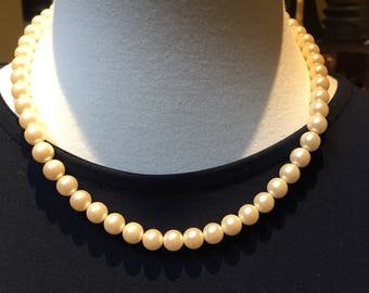 1928 Faux Pearl Necklace 16""