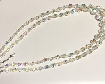 Double Strand Crystal Necklace