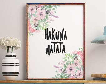 Disney Quotes, Hakuna Matata Print, Motivational Quote, Boy Nursery Wall  Decorations, Pumbaa, Disney Wall Art, Inspirational Quote
