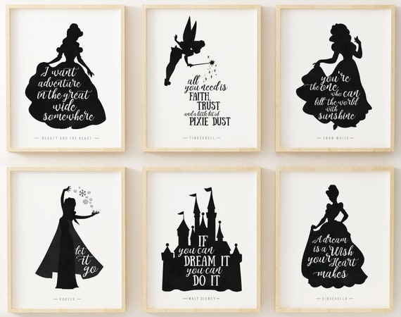 walt disney quote walt disney set of six disney quotes