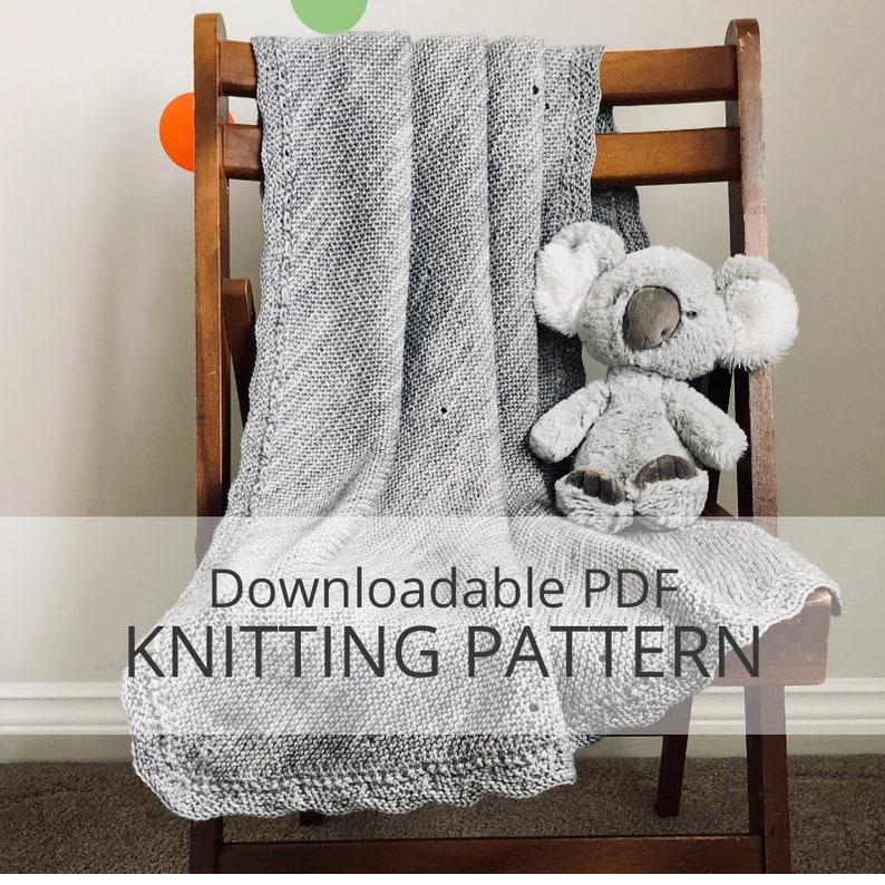 ALBERT'S BLANKIE baby blanket downloadable PDF knitting image 0