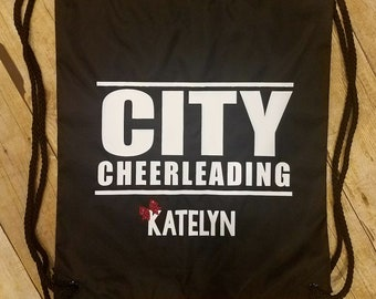 CUSTOM & PERSONALIZED Drawstring Backpacks | Cheer | Dance | Summit | Sports Bag