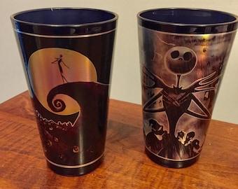 Pair of Disney's Nightmare before Christmas pint glasses