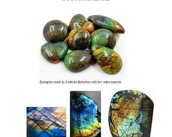Faux Labradorite Gemstone Written Tutorial- Bakulina and Menke
