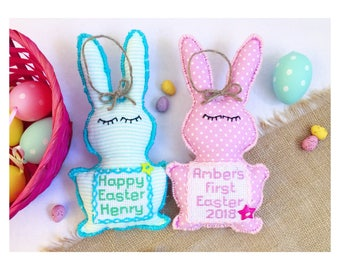 Easter decoreaster egg buntingeaster bunny buntingeaster easter gifts for kidsnew baby giftmy first easterbabys first easteralternative easter gifteaster baby giftpersonalizedeaster decor negle
