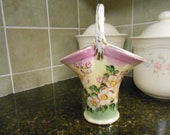 Fenton, Limoges China Basket Vase