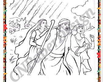 Printable coloring page for kids and adults bible character: Remember the Wife of Lot.  ******** Instant Download.