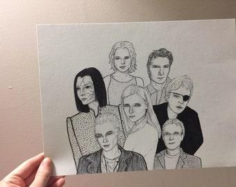 Buffy The Vampire Slayer Gang